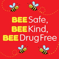 Bee Safe Bee Kind Bee Drug Free Theme from Positive Promotions