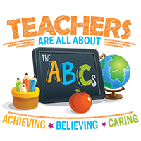 Teachers Are All About Achieving Believing Caring themed products