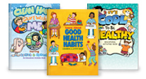 Click here to see our healthy habits activity books.