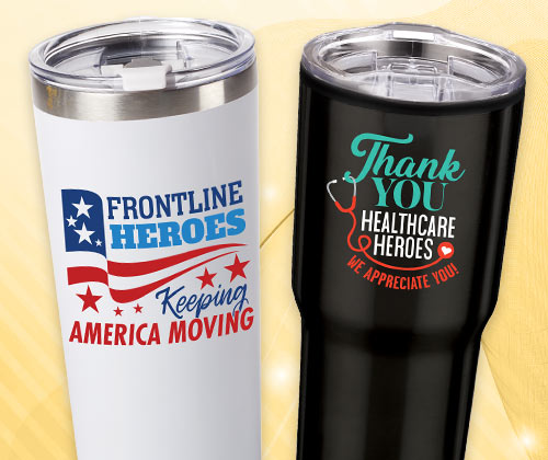 Click Here To See Our Employee Recognition Tumblers, Travel Mugs & Water Bottles