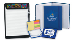 Click here to see our Employee Recognition stationery gifts, including notebooks, stickypads & stationery sets.