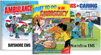 activity books help children understand how to prepare for emergencies & stay safe. learn about what emts do