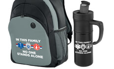 In This Family No One Stands Alone theme products