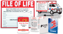 Educational tool products to help protect families with handy reminders & reference about first aid and emergencies.