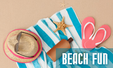 have fun in the sun, all you need for a great beach day!