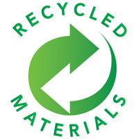 Eco-friendly, recycled materials products