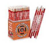 Fire prevention and safety pens and pencils, handouts for everyday use with your message or safety tips