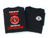 Fire prevention and safety t-shirts. Perfect for recognizing the courage of your dedicated firefighters or adding your department's name or logo