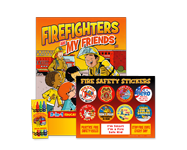 Fire safety and prevention value kits, convenient, pre-packaged for easy distribution.