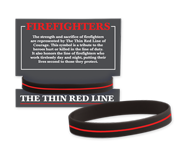 fire prevention and safety bracelets, easy way to advertise your services at open houses, school visits, and outreach events
