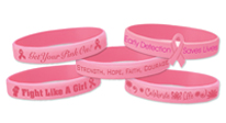 Click here to see our Breast Cancer fundraising bracelets.