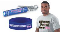 Breast Cancer isn't just for women, men can join the fight too!  Tough Guys Wear Pink!