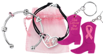 Click here to see our Breast Cancer fundraising jewelry & keychains