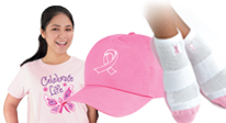 Click here to see our Breast Cancer fundraising apparel.