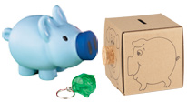 View our Banks products to encourage kids to save. Use our Wallets & Key Chains to provide safety and storage for money