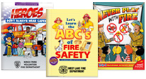 Educational Activities Books Teach Kids To Be Proactive About Fire Safety and fire prevention.