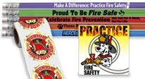 Great Pencil Designs Promote Fire Safety. Stickers & Tattoos Too!