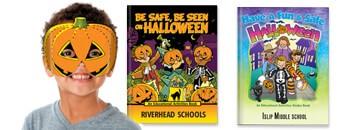 Halloween Educational Activities Books. Illustrations help teach halloween safety rules