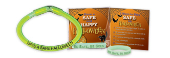 Help kids become visible at night with our Glow In The Dark Halloween Products.