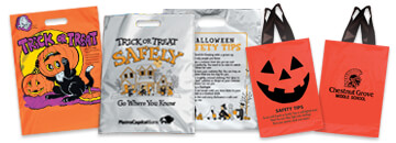 Our reflective trick-or-treat bags makes children visible. Halloween reflective bags come with safety tips on back
