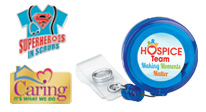 View our lapel pins and id badges for Hospice & Home Care Month