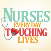 Nurses Every Day Touching Lives Theme from Positive Promotions