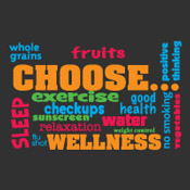 Wellness Word Cloud Theme from Positive Promotions
