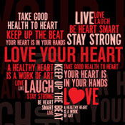 Heart Health Word Cloud Theme from Positive Promotions