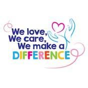 We Love We Care We Make A Difference Theme from Positive Promotions