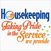 Housekeeping Taking Pride In The Service We Provide Theme from Positive Promotions