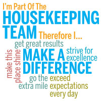 I'm Part Of The Housekeeping Team Theme from Positive Promotions