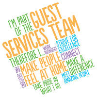 Guest Services Team Word Cloud Theme from Positive Promotions