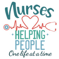 Nurses Helping People One Life At A Time themed products