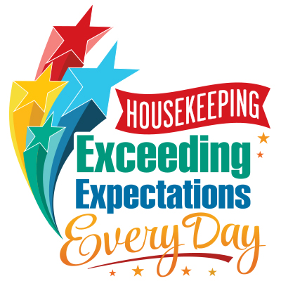 Housekeeping Exceeding Expectations Every Day Theme from Positive Promotions