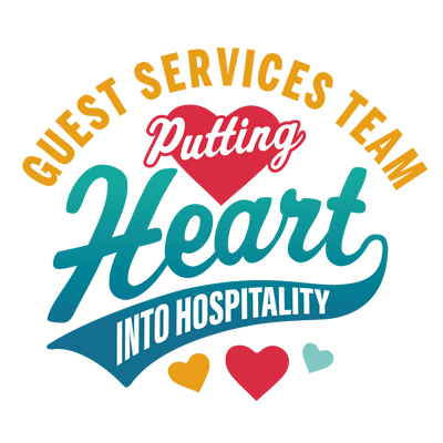 Guest Services Team Putting Heart Into Hospitality Theme from Positive Promotions
