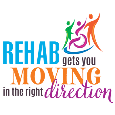 Rehab Gets You Moving In The Right Direction Theme from Positive Promotions