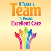 It Takes A Team To Provide Excellent Care Theme from Positive Promotions