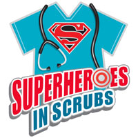 Superheroes In Scrubs themed products
