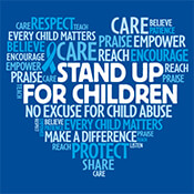 Child Abuse Word Cloud Theme from Positive Promotions
