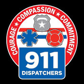 911 Dispatchers Courage Compassion Commitment Theme from Positive Promotions