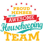 Proud Member Of An Awesome Housekeeping Team Theme from Positive Promotions