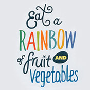 Eat A Rainbow Of Fruit And Vegetables Theme from Positive Promotions