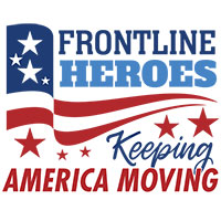Frontline Heroes Keep America Moving themed products