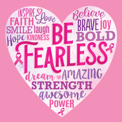 Be Fearless Word Heart Theme from Positive Promotions