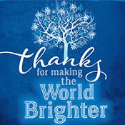 Thanks For Making The World Brighter (Holiday Version)