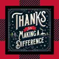 Thanks For Making A Difference - Buffalo Plaid Theme from Positive Promotions