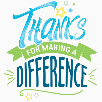 Thanks For Making A Difference Theme from Positive Promotions