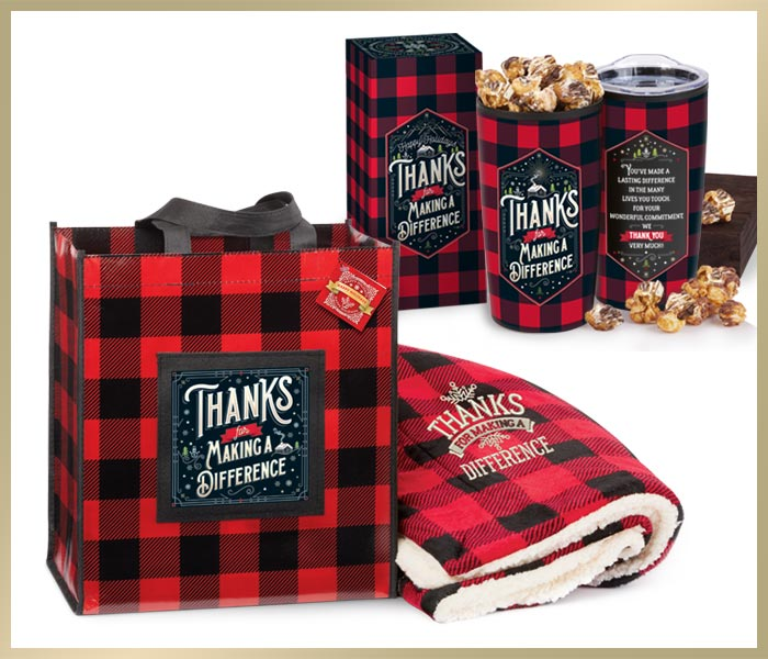 Holiday Gifts Buffalo Plaid themed