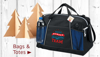 Holiday bags and totes gifts of appreciation