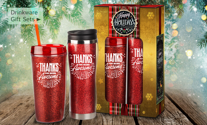 Holiday Gifts Drinkware Gift Sets of appreciation
